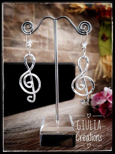 Orecchini chiave di violino