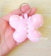 Bomboniera farfalla, portachiavi farfalla, bomboniera nascita, bomboniera battesimo, bomboniera comunione, farfalla feltro
