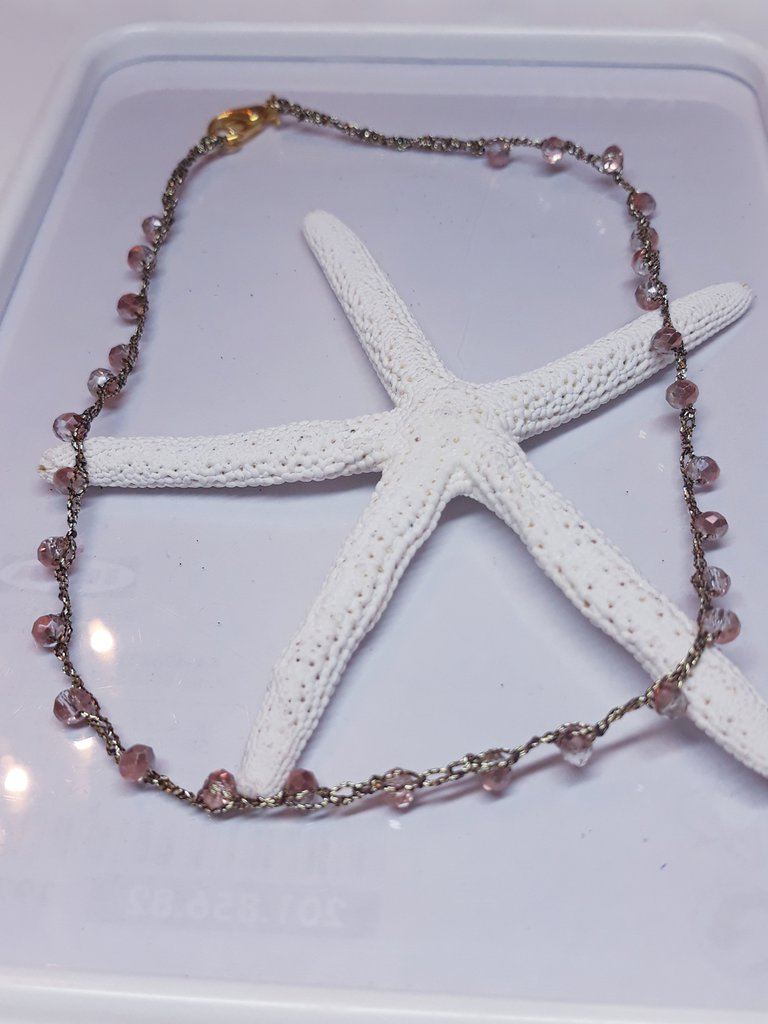 Collana stile rosario con cristalli bohemian handmade