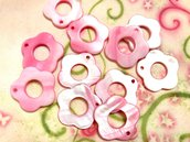 15 pz ciondoli CHARM fiore madreperla rosa chiaro - 2,5 cm