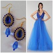 Orecchini Blue Queen