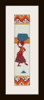 PDF schema bracciale Africa3 in stitch peyote pattern - solo per uso personale .