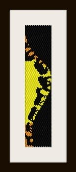 PDF schema bracciale Africa4 in stitch peyote pattern - solo per uso personale .