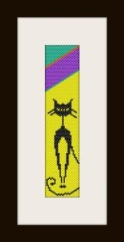 PDF schema bracciale Cat in stitch peyote pattern - solo per uso personale .