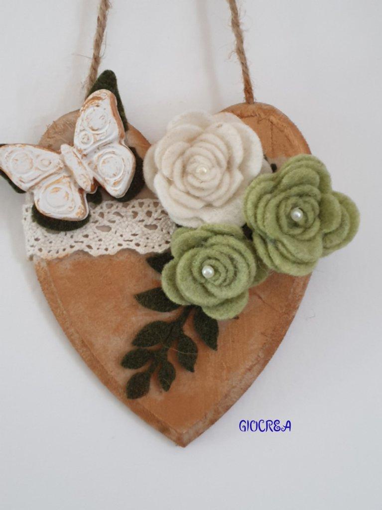 Fuoriporta in legno e decorazioni feltro