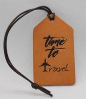 Etichetta in pelle personalizzata per valigia
