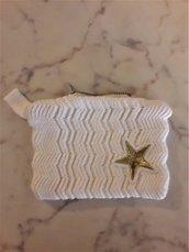 Bustina in cotone bianco con stella