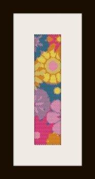 PDF schema bracciale fiori color in stitch peyote pattern - solo per uso personale .