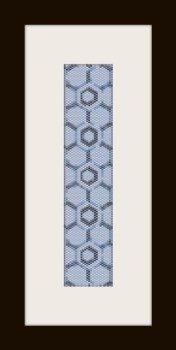 PDF schema bracciale forma geometrica in stitch peyote pattern - solo per uso personale .