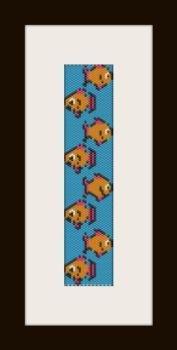 PDF schema bracciale pesciolini in stitch peyote pattern - solo per uso personale .