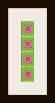 PDF schema bracciale quadrati in stitch peyote pattern - solo per uso personale .