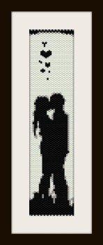 PDF schema bracciale san valentino3 in stitch peyote pattern - solo per uso personale .