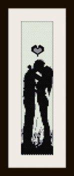 PDF schema bracciale san valentino4 in stitch peyote pattern - solo per uso personale .