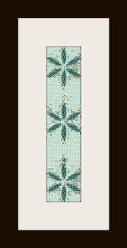 PDF schema bracciale stella blu in stitch peyote pattern - solo per uso personale .