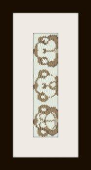 PDF schema bracciale scimmiette in stitch peyote pattern - solo per uso personale .