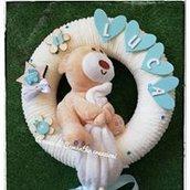fiocco nascita maschietto con orsetto