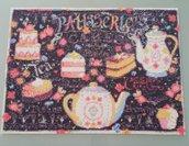 """Quadro mosaico con cornice a giorno """"dolci tentazioni"""" misura 40X30"""