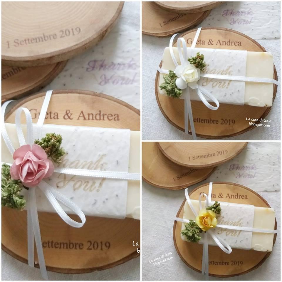 Bomboniere Matrimonio In Legno : Bomboniere matrimonio con saponi fatti a mano su base di legno