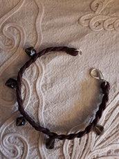 Cavigliera marrone in perle
