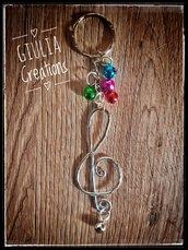 portachiavi chiave di violino
