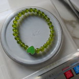 braccialetto elastico agata verde