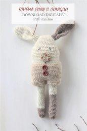 cony coniglio | schema download digitale | giocattolo morbido pdf | pdf coniglio