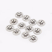 25 rotelle ingranaggi 14mm con finta vite colore argento
