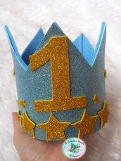 Coroncina in feltro per il Primo Compleanno