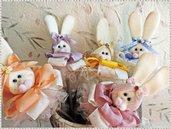 Cartamodello coniglietti colorati