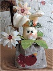 Cartamodello Evelina, coniglietta porta cioccolatini