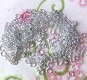 1000 pZ ANELLINI MINUTERIA apribili silver chiaro 4 mm