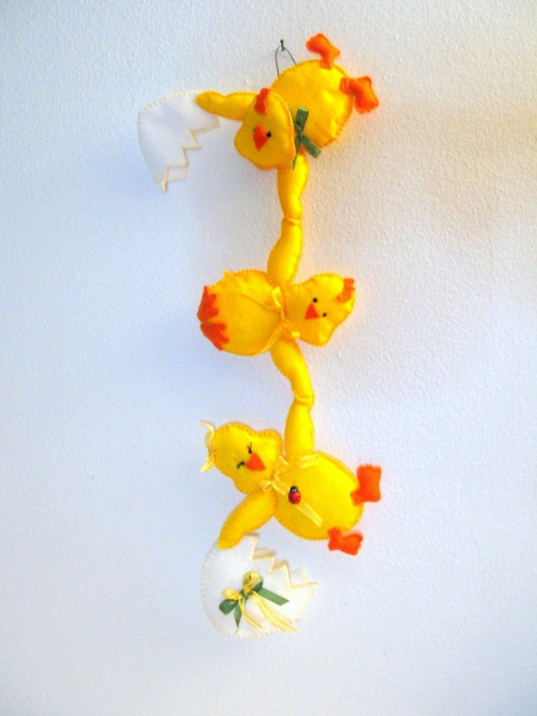 Schema Pulcini birichini- animali di pezza - Pulcini per Pasqua - decorazioni pasquali