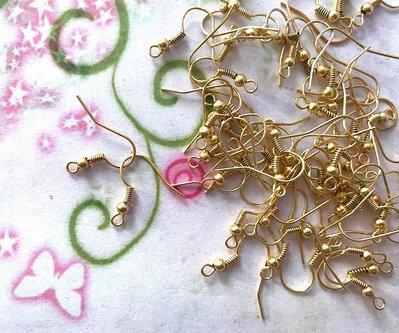 100pz - Monachelle monachine Basi orecchini gold plated