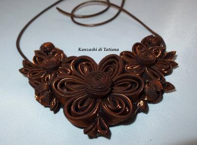 Collana kanzashi con fiori 3.2