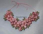 Collana kanzashi con fiori 3.3