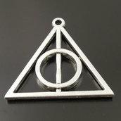 10 charms ciondoli Harry Potter Doni della Morte argento antico