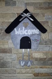 Targhetta fuori porta Welcome Benvenuti