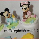 DecorazioneTorta/CakeTopper  baby  T o p o l i n o in zucchero