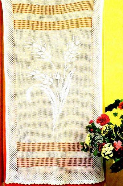 Schema PDF - Tende filet a uncinetto - decorazioni per la casa