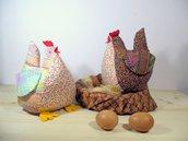 Schema  PDF Gallinella chioccia- animali di pezza -  decorazione per Pasqua