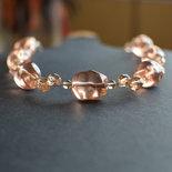 Collana girocollo intreccio perle vetro rosa
