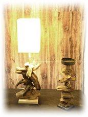 HELGA lampada con legni di mare