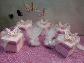 Scatolette, bomboniere, porta confetti