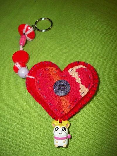 Portachiavi cuore rosso