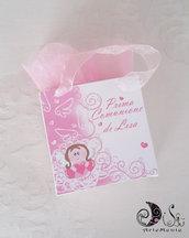 Bomboniera portaconfetti comunione gift bags portaconfetti angioletto per bimba
