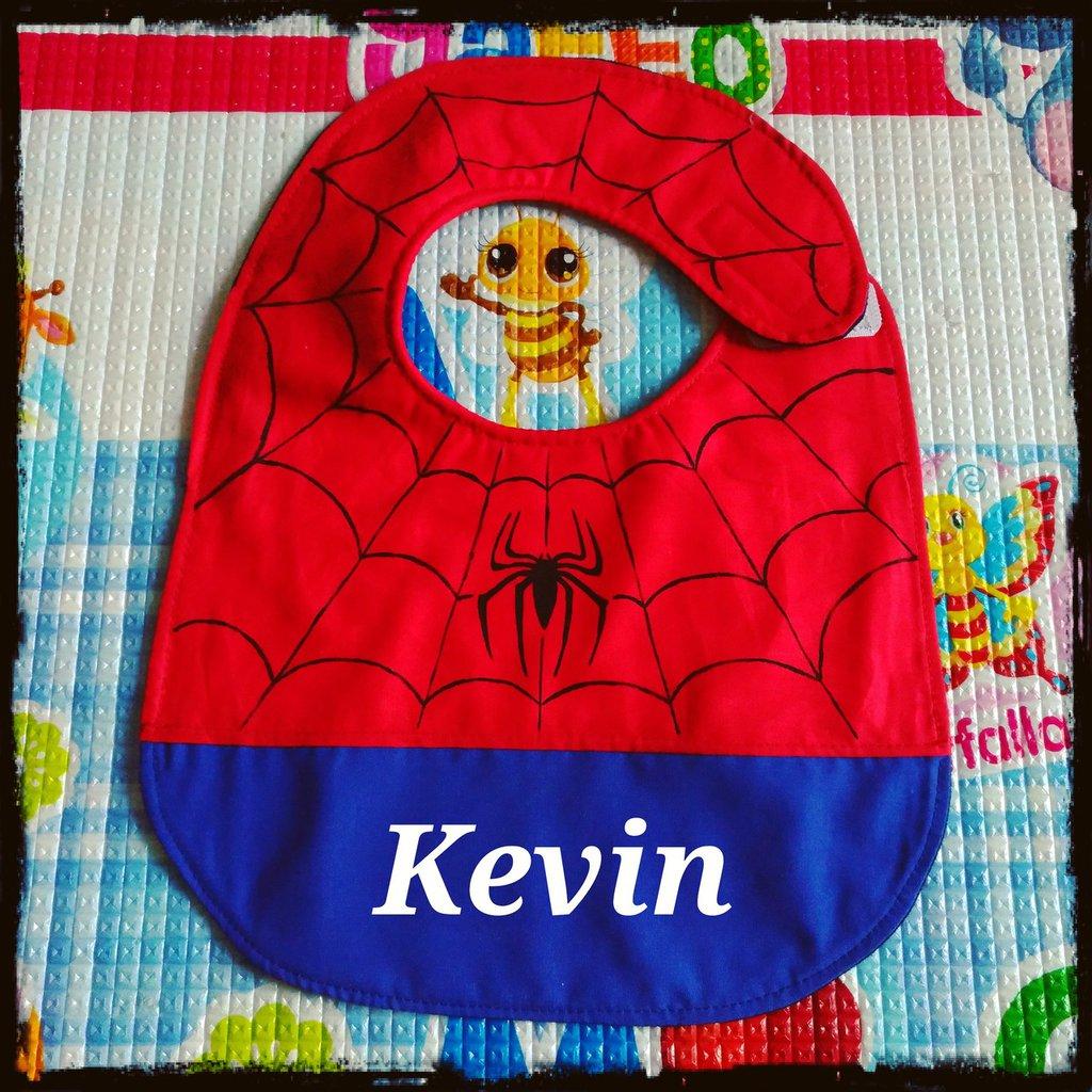 Bavaglino SPIDERMAN, bavaglini impermeabili, bavaglini personalizzati, regalo originale per il bebé
