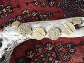 braccialetto in spago di canapa con sabbia