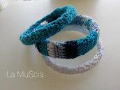 3 bracciali semi-rigidi Azzurro