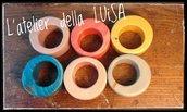 Porta tovaglioli in legno realizzati a mano - colorati