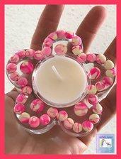 Porta candela fiore
